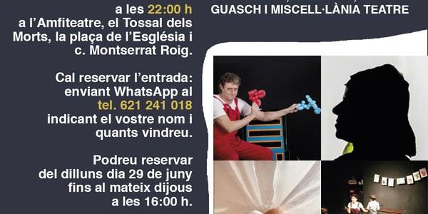 NIT DE CONTES: 4 espais amb NOPATISKOS, EL SIDRAL, ROSER GUASCH i MISCEL.LÀNIA TEATRE.