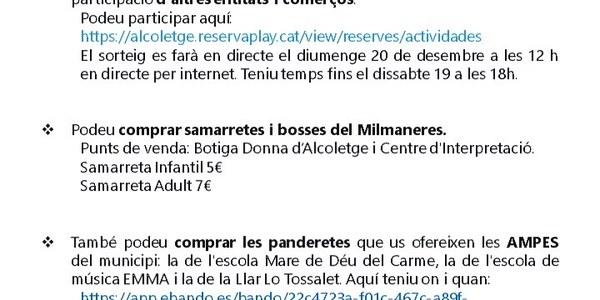 ACTIVITATS LA MARATÓ 2020 ALCOLETGE