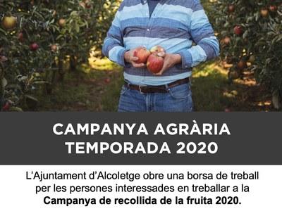 CAMPANYA AGRÀRIA TEMPORADA 2020