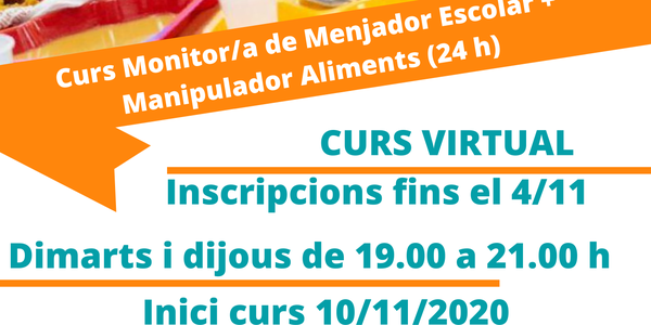 CURS DE MONITOR DE MENJADOR