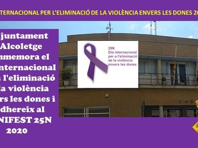 DIA INTERNACIONAL PER L'ELIMINACIÓ DE LA VIOLÈNCIA ENVERS LES DONES 2020
