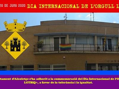 Diumenge 28 juny Dia Internacional de l'Orgull LGTBIQ+