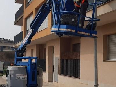 Execució del canvi de l'enllumenat del municipi