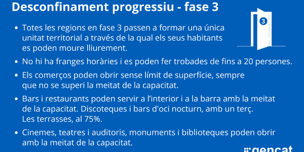 FASE 3 DEL DESCONFINAMENT