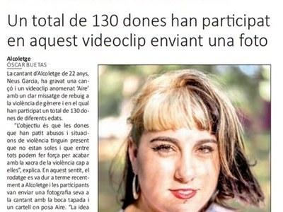 """LA CANTANT NEUS GARCÍA D'ALCOLETGE GRAVA """"AIRE"""" UNA CANÇO DE REBUIG A LA VIOLÈNCIA MASCLISTA"""