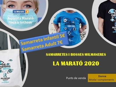 LA MARATÓ 2020: Samarretes i bosses Milmaneres