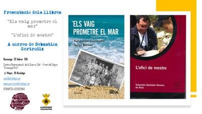 Presentació dels llibres de Sebastián Gertrúdix