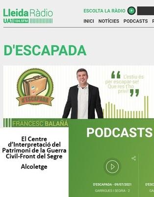 """Programa """"d'Escapada"""" a UA1 Lleida Ràdio. Alcoletge"""