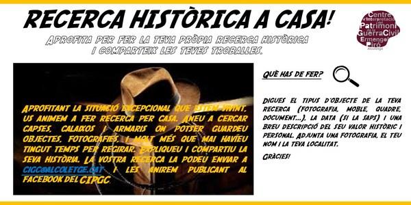 RECERCA HISTÒRICA A CASA!