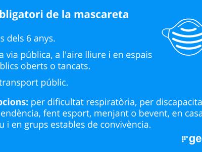ÚS OBLIGATORI DE LA MASCARETA