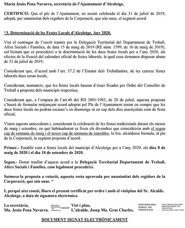 certificat calendari festes locals Alcoletge 2020.jpg
